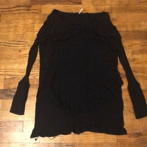 Black waffle knit free People thermal